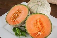 Melones del cantalupo Foto de archivo libre de regalías