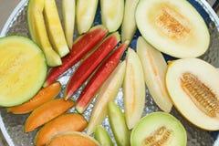 Melones frescos fotografía de archivo libre de regalías