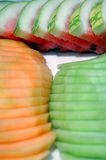 Melones rebanados Fotografía de archivo libre de regalías