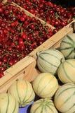 Melones y cerezas Imagen de archivo libre de regalías