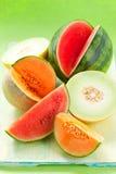 Melones y sandía Fotografía de archivo libre de regalías