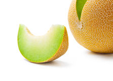 Melonhoneydew- och melonskiva Arkivfoto