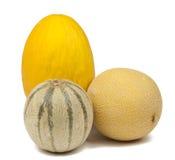Meloni come ingrediente sano in molti prodotto di dieta Immagini Stock Libere da Diritti