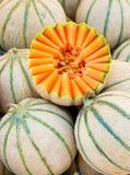Meloni del cantalupo Immagine Stock Libera da Diritti