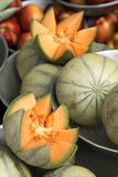 Meloni del cantalupo Fotografie Stock