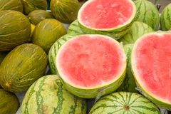 Meloni freschi Fotografia Stock Libera da Diritti