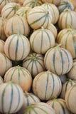 Meloni sul mercato dell'agricoltore a Parigi, Francia Fotografia Stock Libera da Diritti