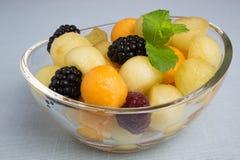 Melonowe piłki z jagodami Fotografia Stock