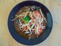 Melonowiec sałatkowej Tajlandzkiej kuchni korzenny wyśmienicie: Obraz Stock