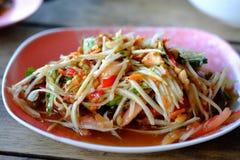 Melonowiec sałatka, Somtum Tajlandzki jedzenie obraz royalty free