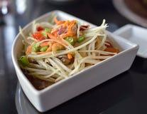 Melonowiec sałatka, Somtum Tajlandzki jedzenie Fotografia Stock