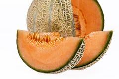 Melonowy kantalup odizolowywający na białym tle zdjęcie royalty free