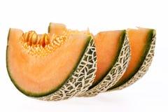 Melonowy kantalup odizolowywający na białym tle obraz royalty free