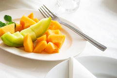 Melonowy mangowy lunch fotografia stock