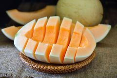 Melonowy plasterek obrazy stock