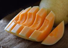 Melonowy plasterek zdjęcie royalty free