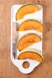 Melonowy plasterek above obraz stock