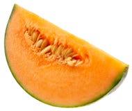 Melonowy plasterek odizolowywający na białym tle obraz royalty free