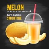 Melonowy smoothie Zdjęcie Royalty Free