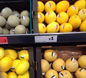 Melons à vendre Photos libres de droits