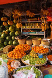 Melons, bananas, oranges and apple Stock Photography