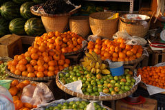 Melons, bananas, oranges and apple Royalty Free Stock Photography