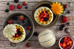Melons And Berries Royalty Free Stock Photos