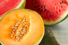 Melons, close up Stock Photos