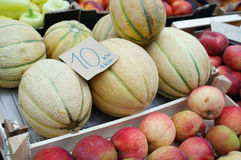 Melons at green market Stock Image