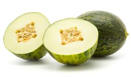 Santa Claus melon isolated on white royalty free stock photography