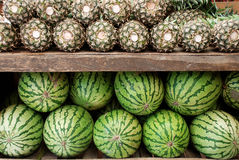 Melons and pineapples Royalty Free Stock Photos