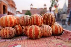 Melons on sale in street Stock Images