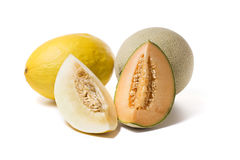 melons with slices Stock Image
