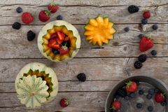 Melons And Soft Fruits Stock Photography