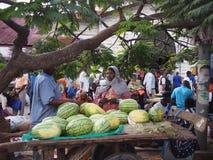 Melonstall i Zanzibar Royaltyfri Fotografi
