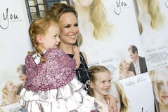 Melora Hardin and daughters Royalty Free Stock Images