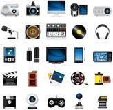 Meloti Icon Series - Multimedia. Multimedia Icon Set - Part Of Meloti Icon Series Stock Photo