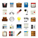 Meloti Icon Series - Office. Office Icon set - Part of Meloti Icon Series Royalty Free Stock Image