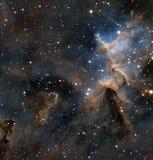 Melotte 15 в межзвёздном облаке сердца стоковые изображения