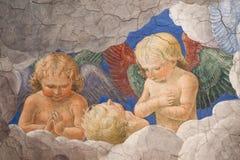 Melozzo da Forli. ROME, ITALY - SEPTEMBER 18: Melozzo degli Ambrosi, called da Forli (1438-1494).Group of angels.Fresco in Vatican Museum on September 18, 2010 Stock Photography