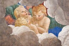 Melozzo da Forli. ROME, ITALY - SEPTEMBER 18: Melozzo degli Ambrosi, called da Forli (1438-1494).Group of angels.Fresco in Vatican Museum on September 18, 2010 Stock Photos