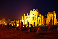 Melrose Abbey Stock Photo