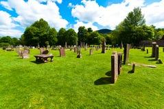 Melrose abbey graveyard Royalty Free Stock Photos
