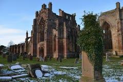 melrose abbey Scotland Obraz Royalty Free