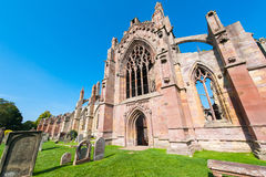 Melrose abbey. Side entrance of the Melrose Abbey in Melrose, Scotland, UK Stock Photo