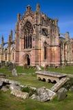 Melrose-Abtei Stockbild