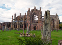 Melrose-Abtei, Schottland Stockbild