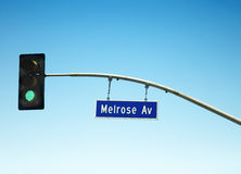 Melrose Ave Street Sign Royalty Free Stock Photography