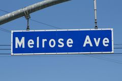 Melrose Avenue Sign Stock Photo