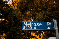 Melrose place sign Stock Image